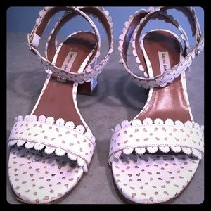 Tabitha Simmons White Leather Sandals - Size 37